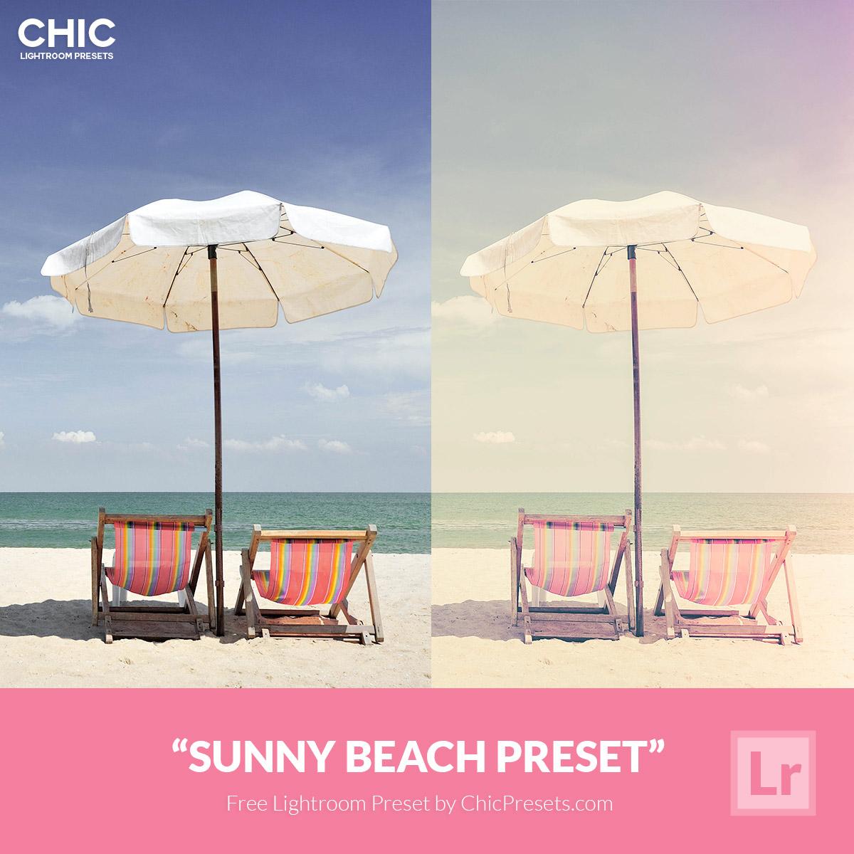 Free Chic Lightroom Preset Sunny Beach