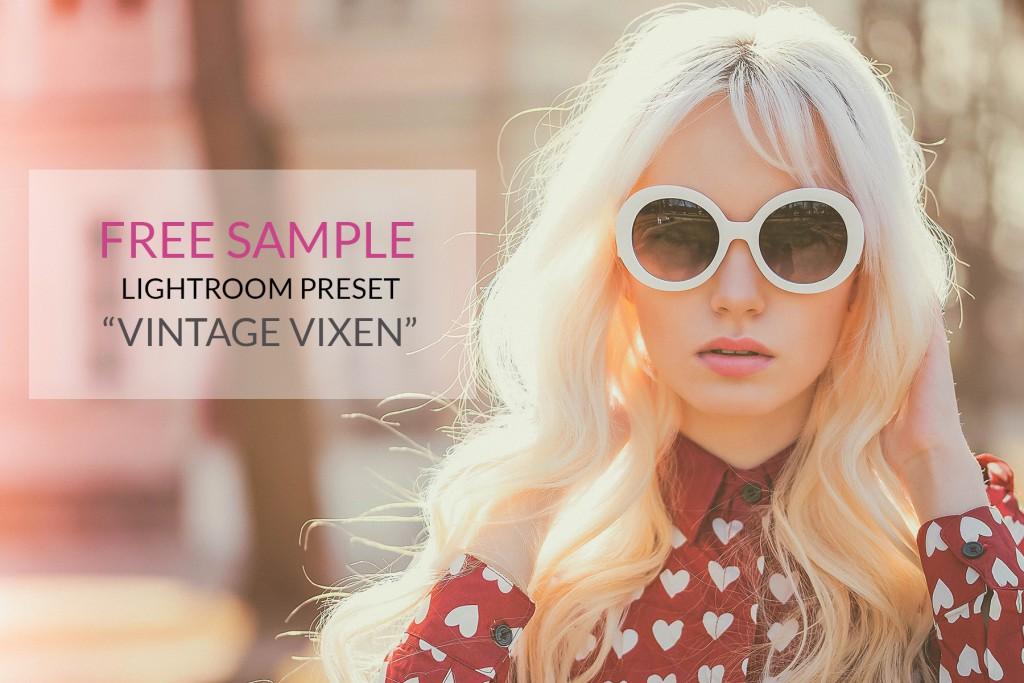 Free Lightroom Preset Vintage Vixen