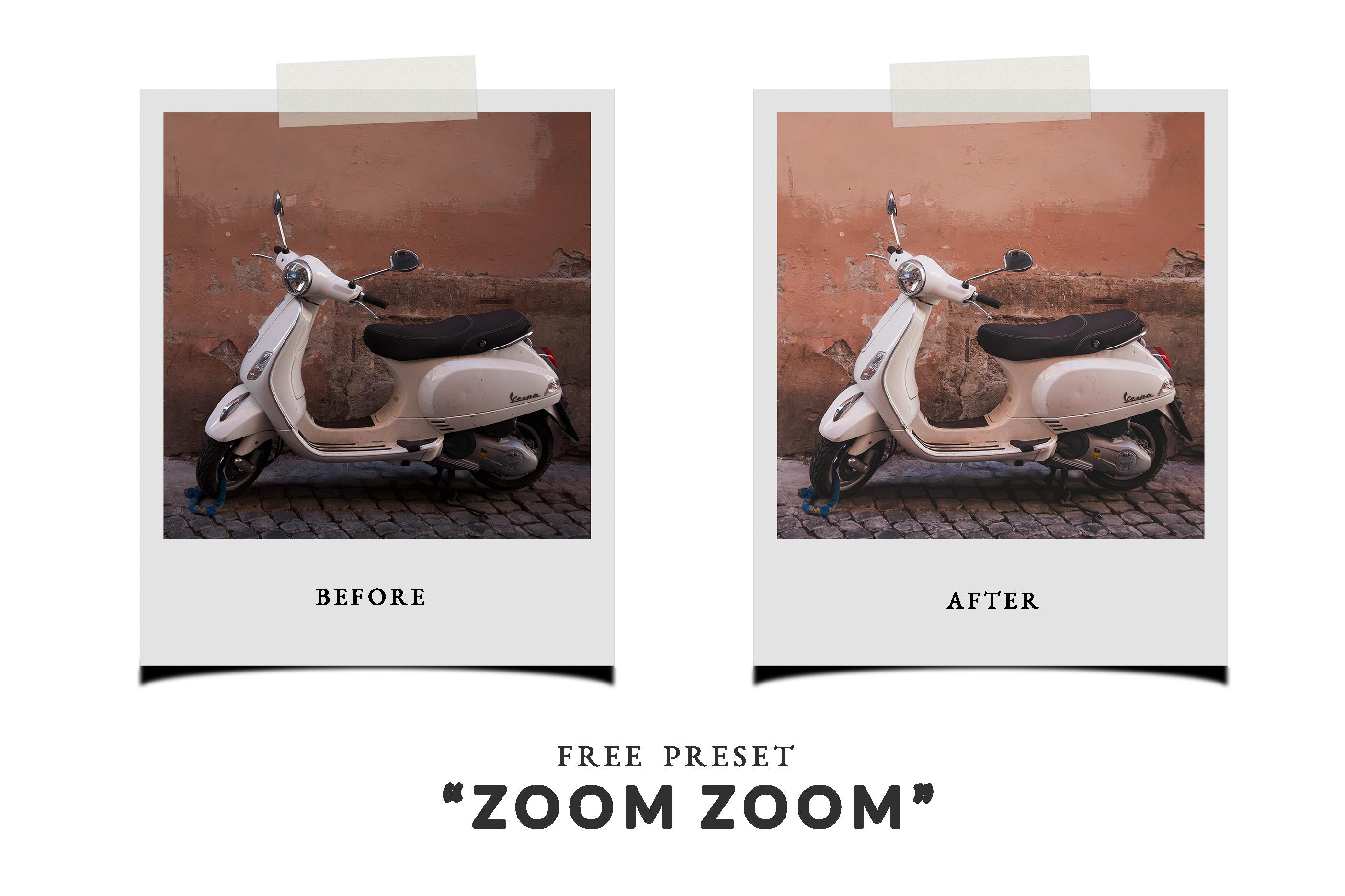 Free Lightroom Preset - Zoom Zoom!