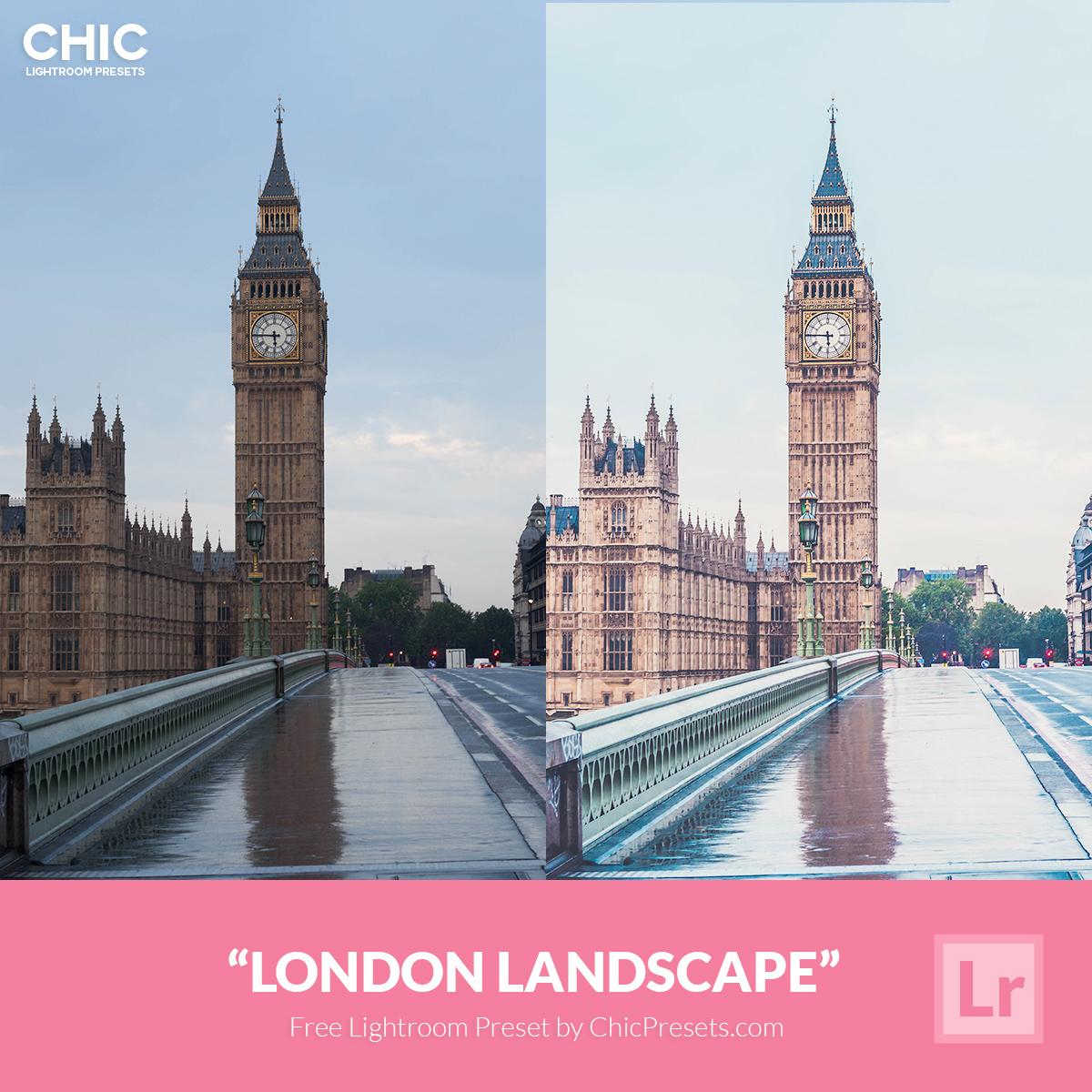 Free Chic Lightroom Preset London Landscape