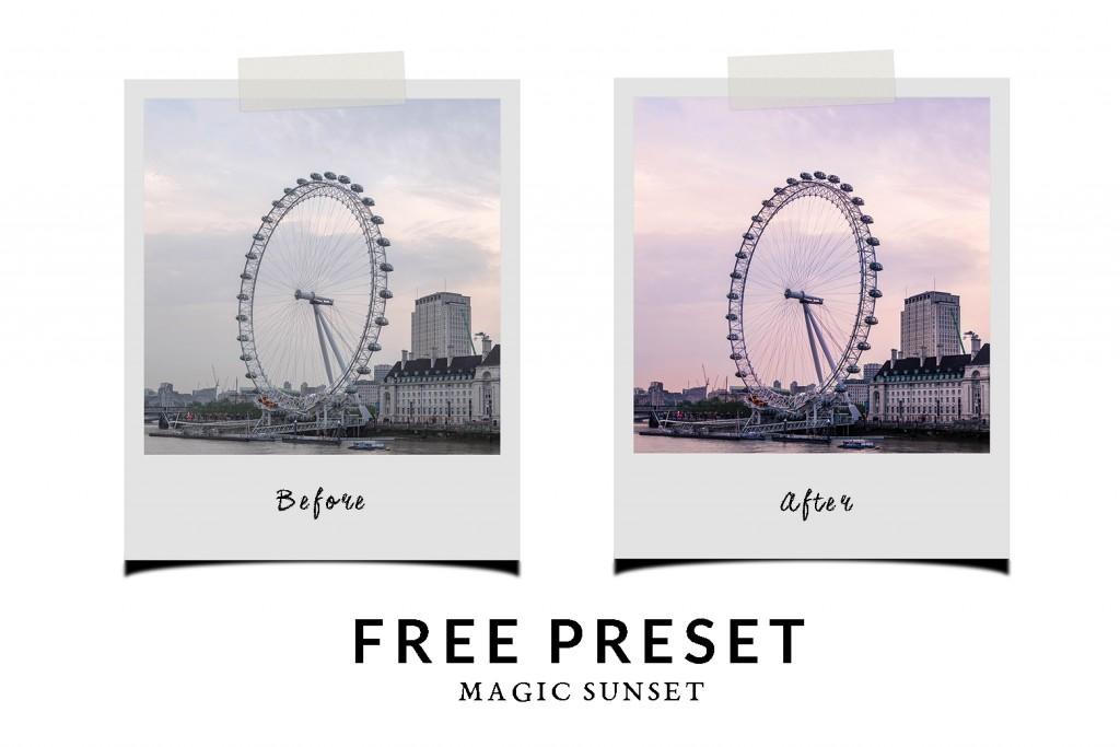 Free Lightroom Preset Magic Sunset