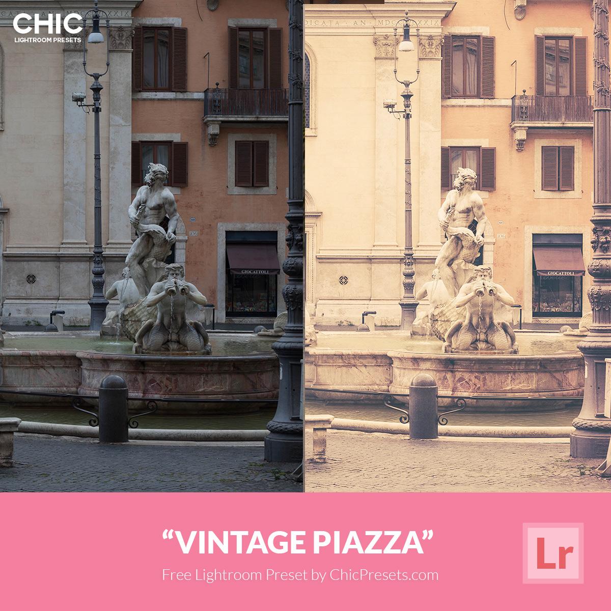 Free Lightroom Preset Vintage Piazza