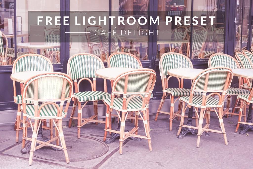 Free Lightroom Preset | Café Delight