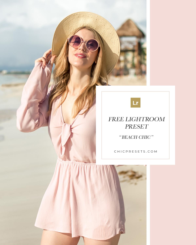 Free Lightroom Preset | Beach Chic