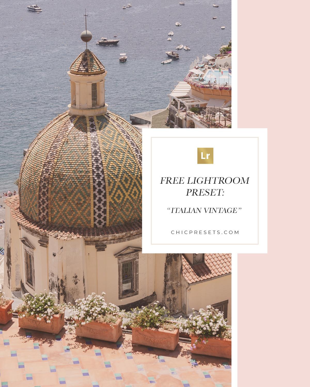 Free Lightroom Preset | Italian Vintage